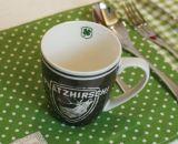 11oz純粋な陶磁器のコーヒーロゴは最小値を襲わない