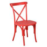 Cruz de plástico de resina cadeira para trás como cadeira de jantar