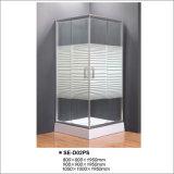 Sitio de ducha simple cuadrado con el vidrio cruzado de Striple