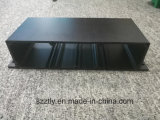 Profilo di alluminio sporto nero anodizzato personalizzato