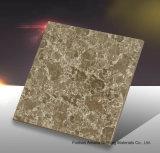Mosaico de Foshan materiales de construcción de la luz de todo el cuerpo Pulido Baldosa porcelana esmaltada de color amarillo (BMG23P)