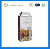 Het vouwen van de Sterke GolfDoos van de Post van de Verpakking Verschepende voor (de vlak) Ingepakte Flessen van de Wijn