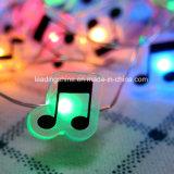 Forma de música Fairy String Lights AA Bateria com fio longo ultra fino Cabo de cobre para o Natal