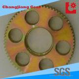 Gelber Zink-Sporn-Gang mit dem Beleuchtung-Loch (angepasst)