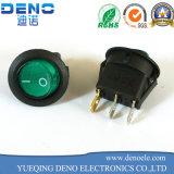 3 Broche Spst lumière néon vert marche/arrêt Interrupteur à bascule ronds