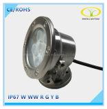 Luz subacuática caliente de la fuente de las ventas IP67 6W LED