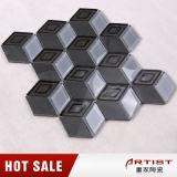 Mattonelle di mosaico di marmo grige della porcellana 3D di colore della fabbrica della Cina