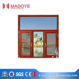 precio de fábrica de vidrio de un diseño simple Casement ventana con la pantalla de la Mosca