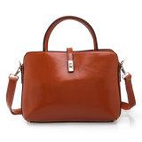 女性の革ハンドバッグの方法肩のブリーフケース