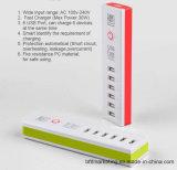 Переходники заряжателя USB 6 портов заряжатель стены быстрого всеобщий портативный