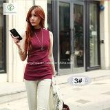 Nuovo cotone collegato di modo Short che basa la maglietta della camicia per le donne