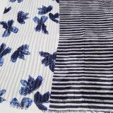 Sjaal van de Viscose van de Druk van Stripe&Flourish van de dame de Gezamenlijke (HWBPS023)