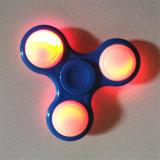 Girador da inquietação do diodo emissor de luz do dedo da mão dos brinquedos de Adhd dos brinquedos do relevo de esforço para adultos