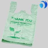 الصين بالجملة عادة يطبع بلاستيكيّة تسوق [ت-شيرت] حقيبة