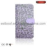 Coperchio di cuoio personalizzato della cassa del telefono mobile per il iPhone 6/7 /8