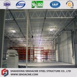 Diseño de construcción prefabricados de estructura de acero de dos pisos de almacén