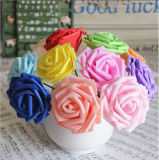 Espuma artificial Flores rosa para el hogar decoración de bodas Scrapbooking