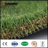 Precios baratos de 50 mm Material PPE Jardín alfombra de césped artificial