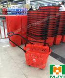 Supermarkt-Plastikeinkaufskorb