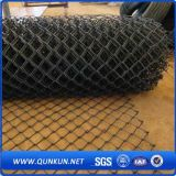 Cerca cubierta y galvanizada del PVC de la conexión de cadena