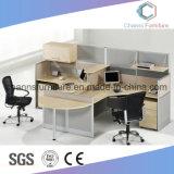 Sitio de trabajo de madera modificado para requisitos particulares de los muebles de la oficina de la partición moderna del vector