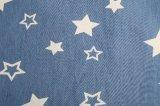 Disegno bello molto tessuto del denim stampato scarico del reticolo per la signora Jeans Blouse