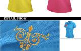 Camisas a retalho personalizadas bordadas do polo T das senhoras do Spandex 180GSM do algodão 5% de 95%