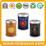 円形の食品包装ボックス金属のコーヒー錫の容器