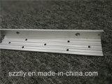 Perfil de alumínio anodizado 6063 ligas personalizado do canto do ângulo