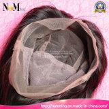 Natürliche Menschenhaar-Schweizer Spitze-Haar-Systems-volle Perücke knotete eigenhändig