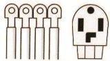 cabo do secador de 4-Wire 30A, cabo de potência 06-Ggpt1004