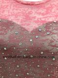 La maglietta Drilling calda di colore rosa del cuore per le donne con brucia