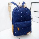 Sac à dos de sac d'école de toile de couleur de sucrerie de POINT de polka (BDMC018)