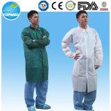 Uniforme de laboratoire de protection non tissé jetable, uniforme de laboratoire, robe de laboratoire