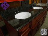 Stanza da bagno nera di vanità del granito di vanità cinese nera doppia della stanza da bagno