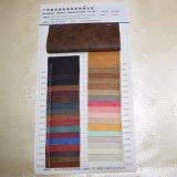 Tessuto rivestito di cuoio del pattino del sacchetto del PVC del PVC del doppio Faux di colore