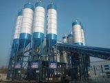 Un impianto di miscelazione concreto stazionario di 180 M3/H, pianta d'ammucchiamento concreta mobile