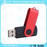 Red Swivel Black Plastic 4GB USB Drive (ZYF1815)