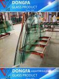 19mm transparente refoulées trempé SGCC incurvée de construction en verre trempé