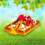 옥외 개발 여름 활동을 즐겨 아이들을%s 2개의 활주를 가진 흥미로운 팽창식 축구 공원