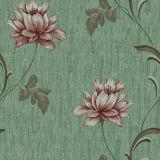 Papier peint imperméable à l'eau de vinyle avec la fleur de relief