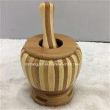 Lidの昇進Bamboo Carving Gadgets Garlic Mill Tool
