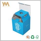 Un fuerte papel Courrgated azul Caja de embalaje de taza