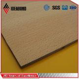 Ideabond 4ft*8ft 4mm du grain du bois mur panneaux en aluminium