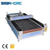 Tecido laser de CO2/máquina de corte de alimentação automática de têxteis 1630