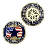 Laiton Antique Sport souvenirs personnalisés Coin anneau étoile religieux Tag