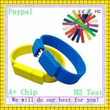 Paypal Payment Custom Logo Silicone 128MB to 32GB USB Bracelet (GC-B012)