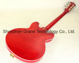 Es335 금 고급 Bigsby (GJ-24)를 가진 반 빈 바디 재즈 일렉트릭 기타