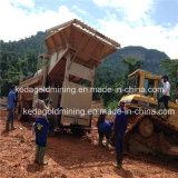 砂鉱の金の分離のためのトロンメルの金の洗浄プラント