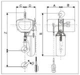 Vitesse CD1/MD1 électrique, élévateur de levage lourde de 1 tonne 6m de câble métallique
